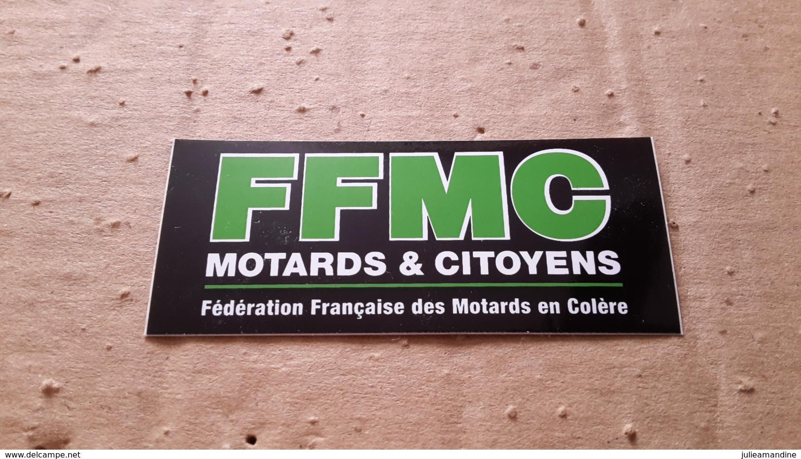 1  Autocollant   Moto Ffmc Federation Des Motards En Colere - Autocollants