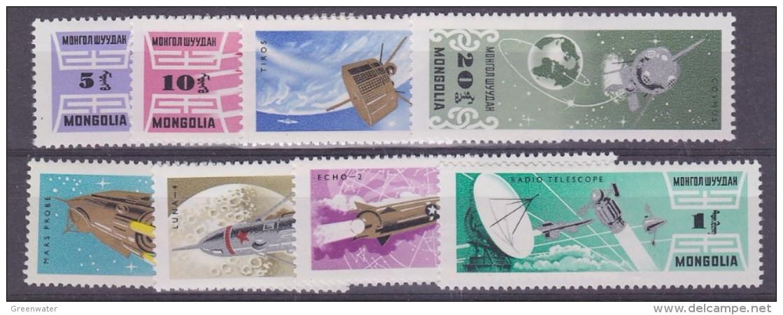 Mongolia 1964 Space 8v ** Mnh (33102) - Asia