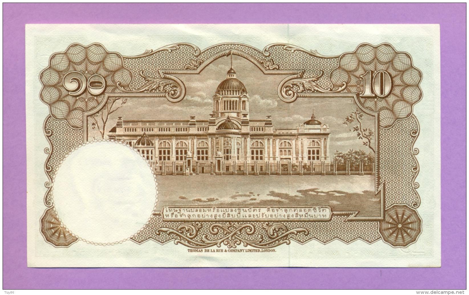 Thailandia 10 Baht 1953 (FDS) - Tailandia