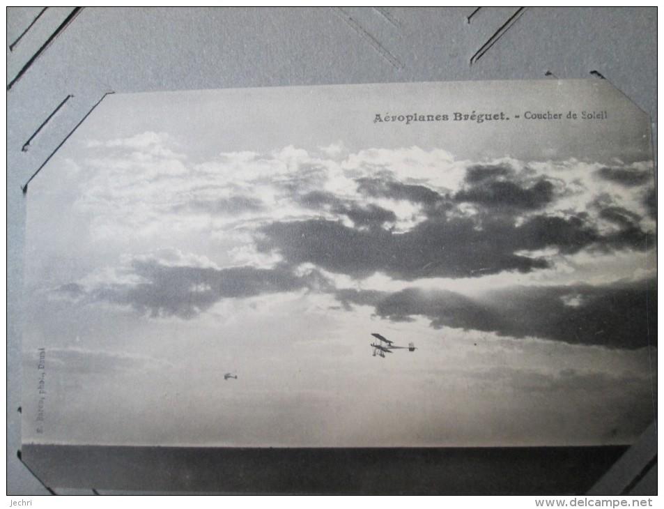 AEROPLANE BREGUET . COUCHER DE SOLEIL - Autres