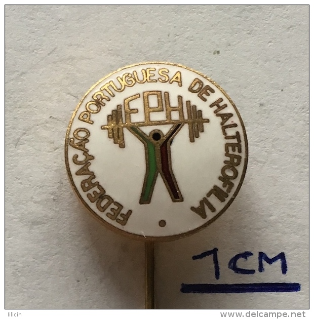 Badge (Pin) ZN003576 - Weightlifting Federation Portugal (FPH) - Weightlifting