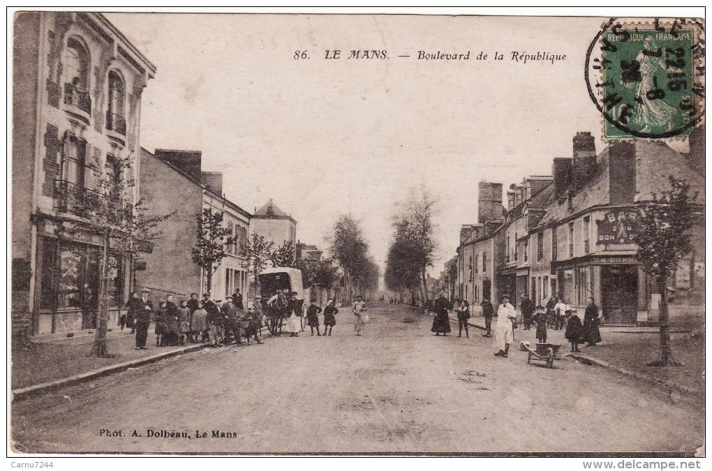 DP 72- 271001-LE MANS-BOULEVARD DE LA REPUBLIQUE-ANIMER-ECRITE- - Le Mans