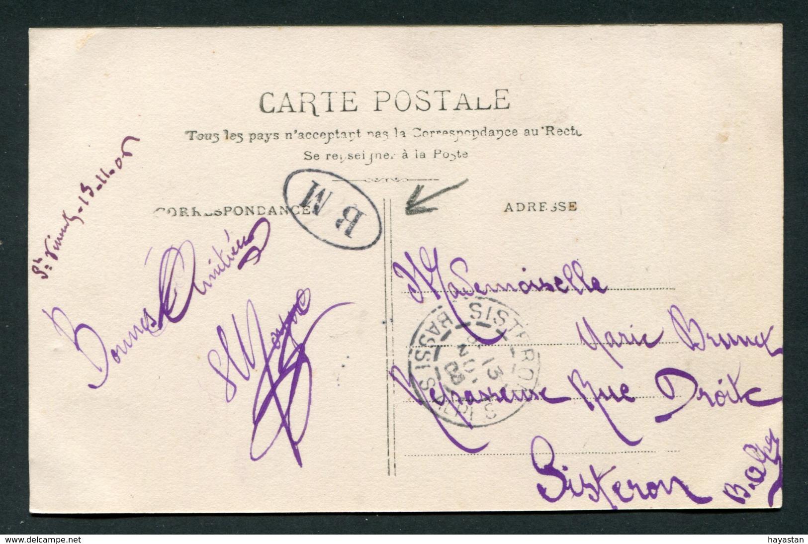 MARQUE POSTALE BM BOITE MOBILE - CAD SISTERON - Marcophilie (Lettres)