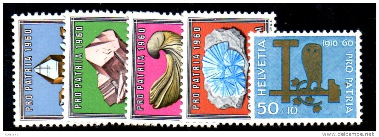T1211 - SVIZZERA 1960 , Pro Patria N. 661/5  ***  MNH - Pro Patria