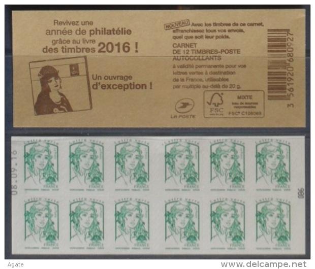 C - Ciappa Lettre Verte -  Livre Des Timbres 2016 - Date En Haut N° 086 (2016) Neuf** - Usage Courant
