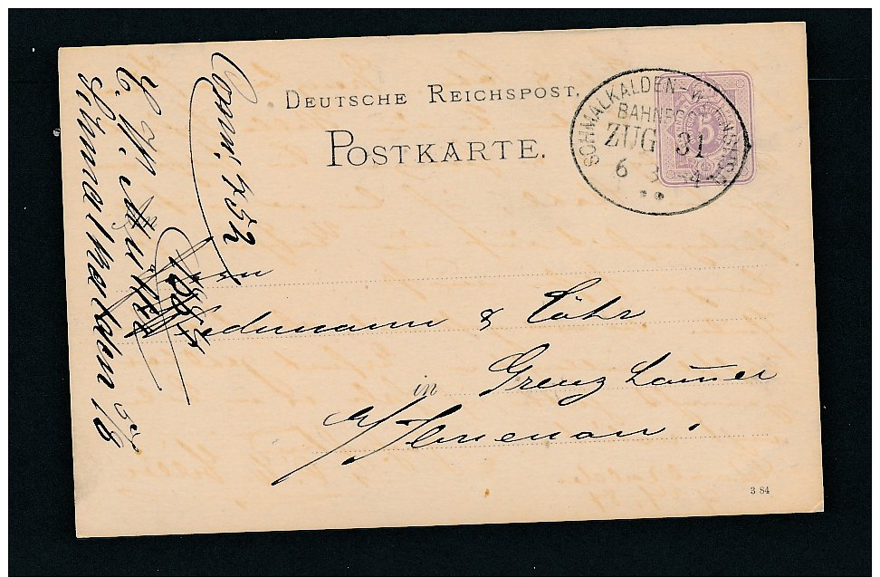Bahnpost  - Stempel Beleg    ( G3784  ) Siehe Foto - Briefe U. Dokumente