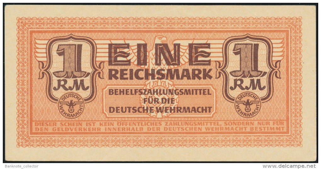 Deutschland, Germany - 1 Reichsmark, Deutsche Wehrmacht, Ro. 505, 1942 ! - [ 4] 1933-1945 : Tercer Reich