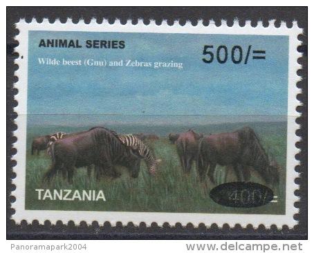 Tanzania 2008? Animal Series Wilde Beest (Gnu) And Zebras Grazing Faune Animaux Tiere Wild 500 - 400 Sh RARE MNH** - Tanzanie (1964-...)