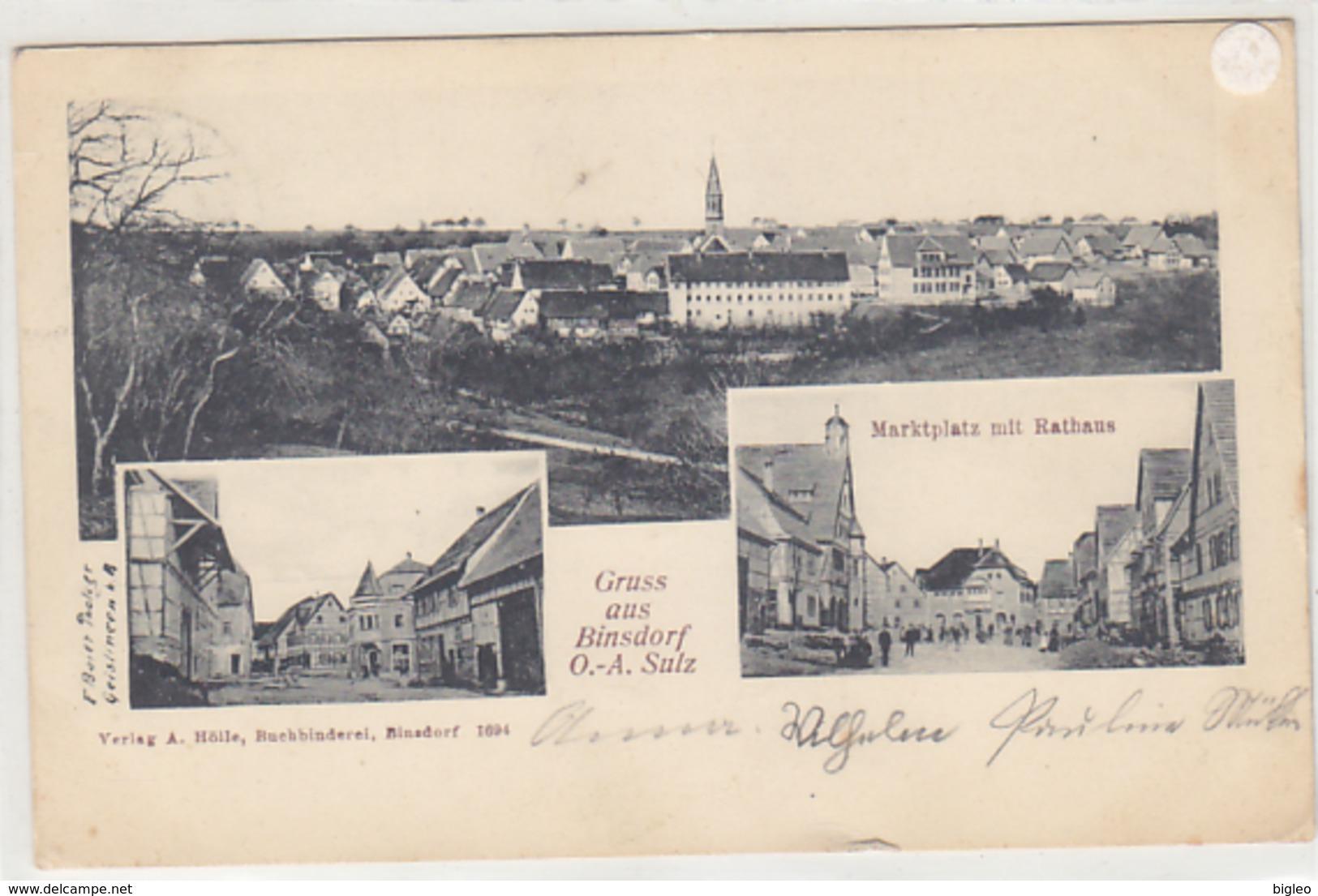 Gruss Aus Binsdorf - Mehrbildkarte - 1906    (PA-1-140807) - Germania