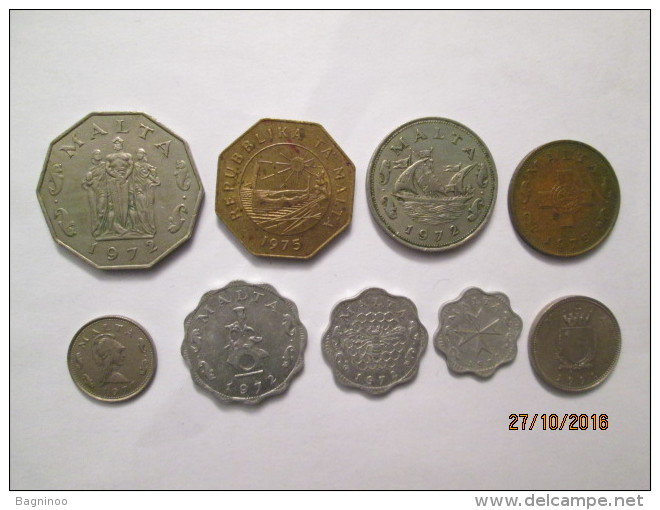 MALTA 9 Coins - Malta