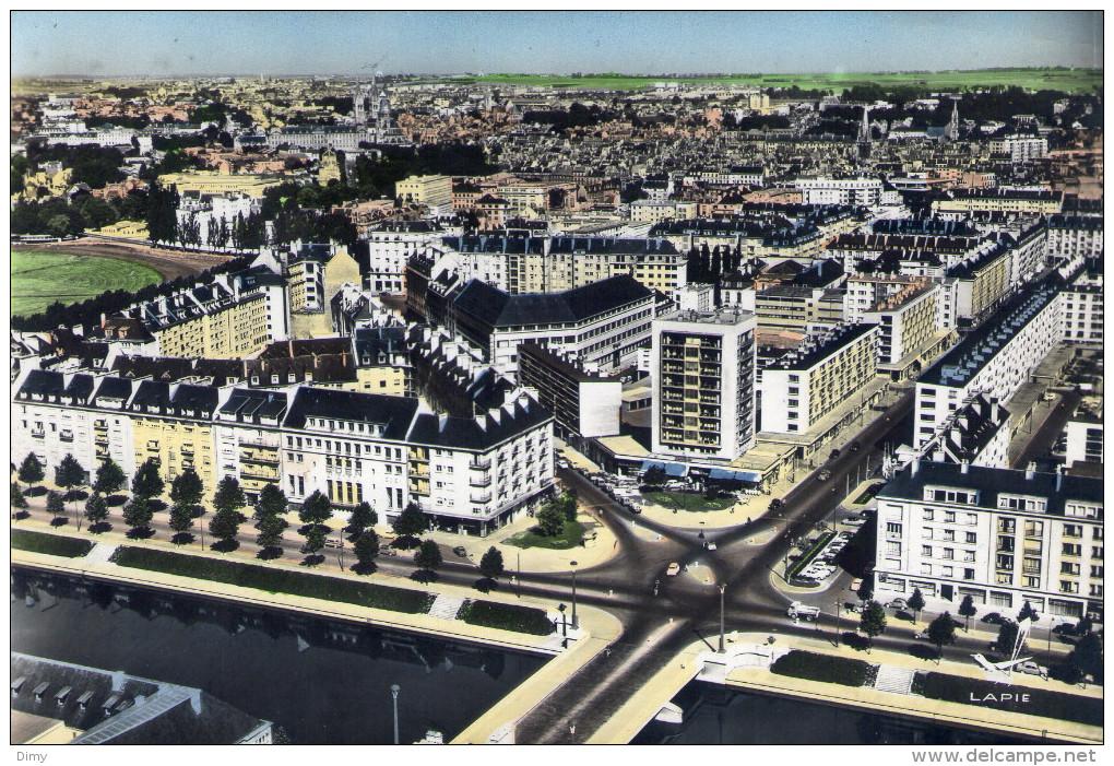 Cpsm  Caen 14 Calvados Vue Aerienne - Caen