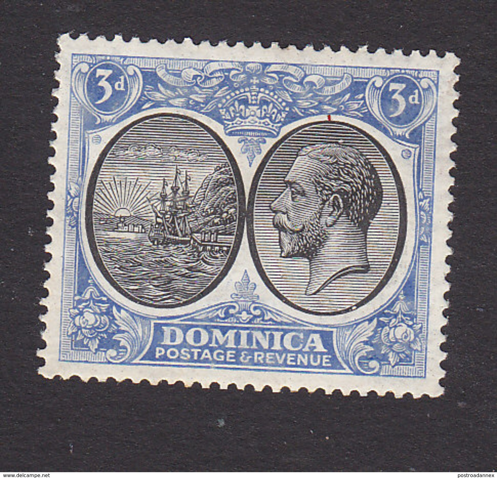 Dominica, Scott #73, Mint Hinged, Seal Of The Colony, George V, Issued 1923 - Dominica (...-1978)
