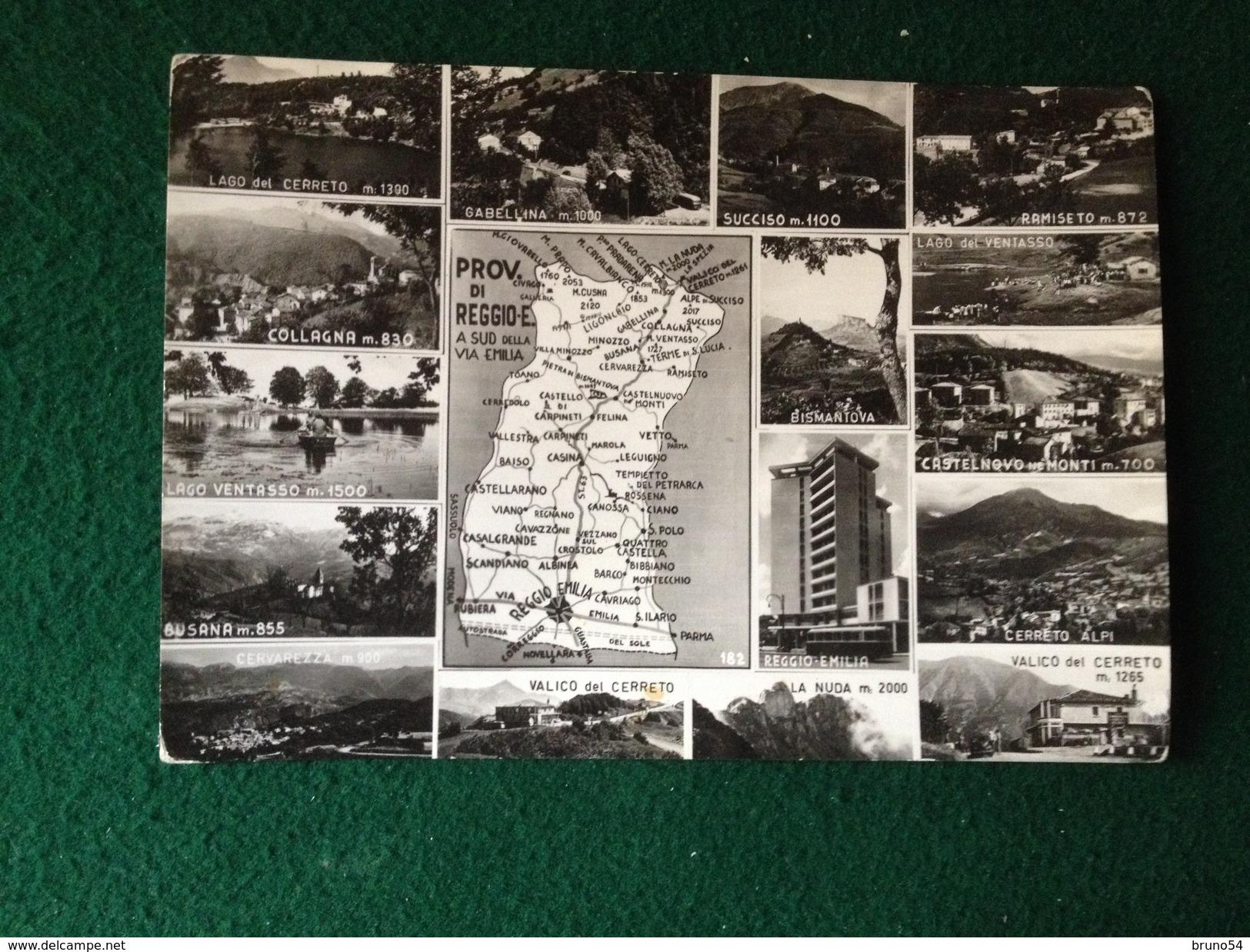 Cartolina Provincia Reggio Emilia,Collagna,Ramiseto,Succiso,Cerreto,Cabellina,Busana Etc Viaggiata 1961 - Reggio Nell'Emilia