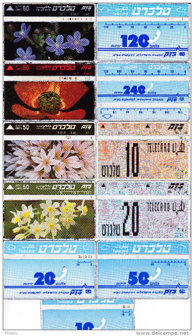 11 Télécartes Usagées Différentes. (CT52) - Israel