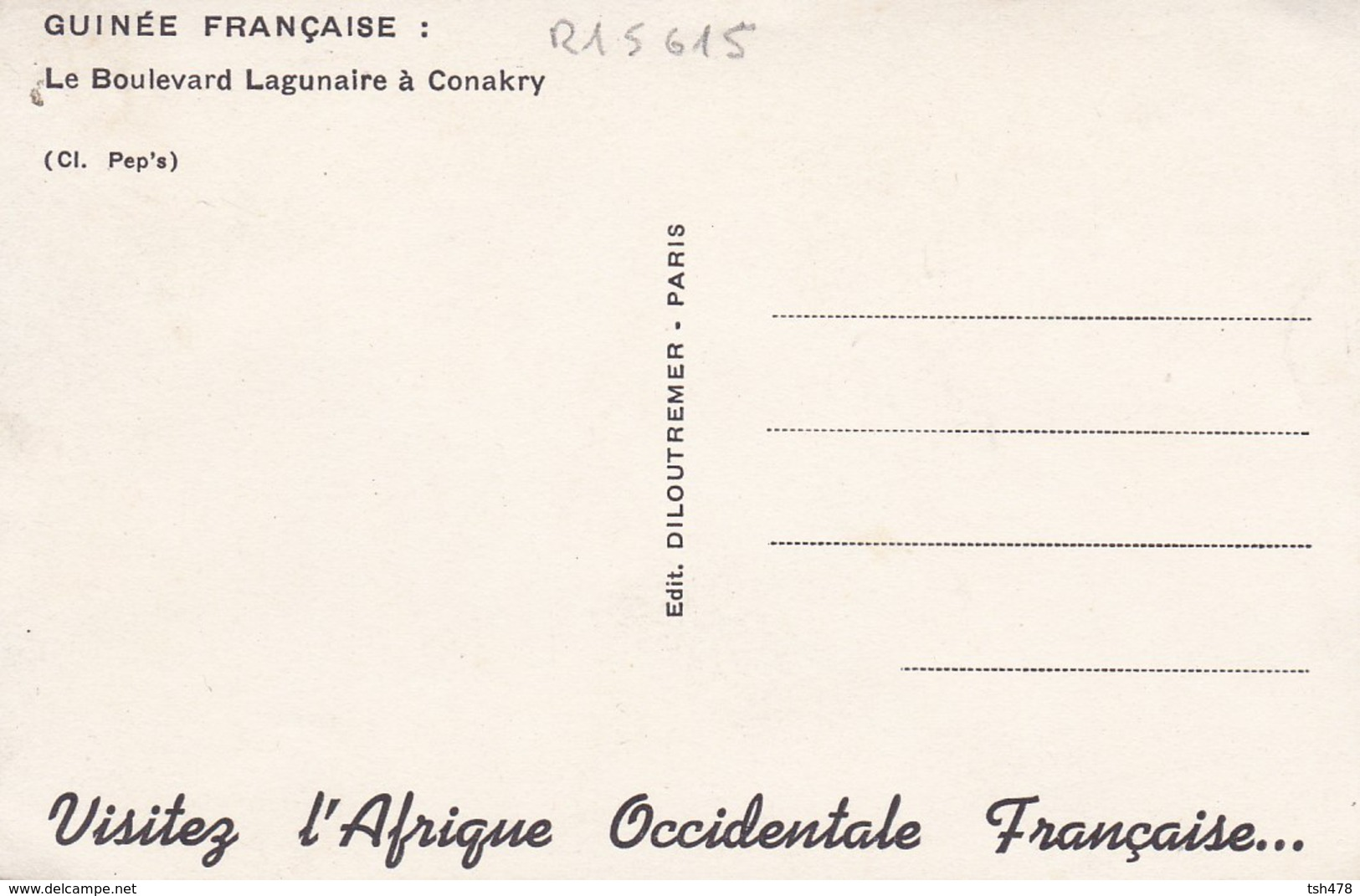 GUINEE FRANCAISE--le Boulevard Lagunaire à Conakry--voir 2 Scans - Guinée Française