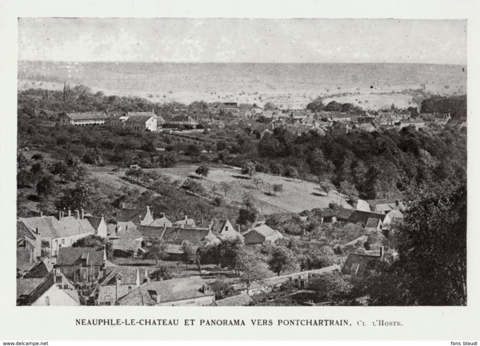 1925 - Iconographie Documentaire - Neauphle-le-Château (Yvelines) - Panorama - FRANCO DE PORT - Unclassified