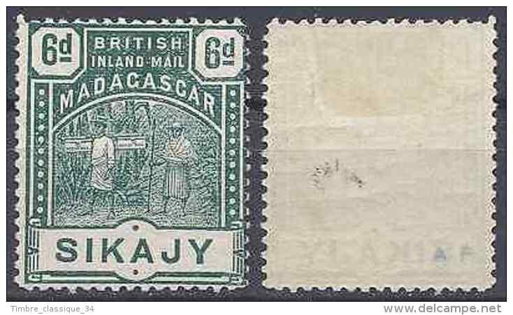 MADAGASCAR CONSULAIRE BRITANNIQUE N°57 NEUF AVEC GOMME D'ORIGINE COTE MAURY 40€ - Madagaskar (1960-...)