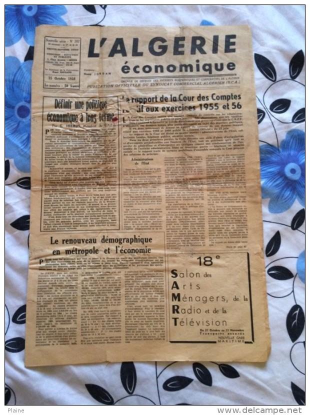L'ALGERIE ECONOMIQUE-1958 - Revues & Journaux