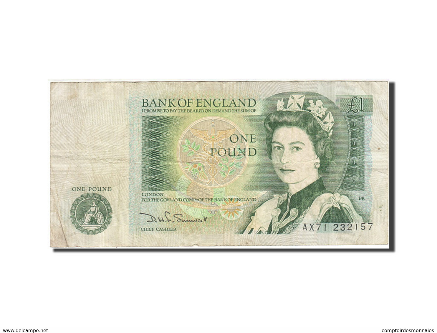 Grande-Bretagne, 1 Pound, 1971-1982, KM:377b, Undated (1978-1984), TB - 1 Pound