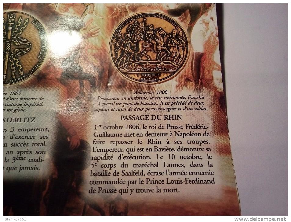 MEDAILLE EN BRONZE PASSAGE DU RHIN Anonyme 1806 De La COLLECTION IMPERIALE Du CLUB FRANCAIS DE LA MONNAIE DE PARIS - Royaux / De Noblesse