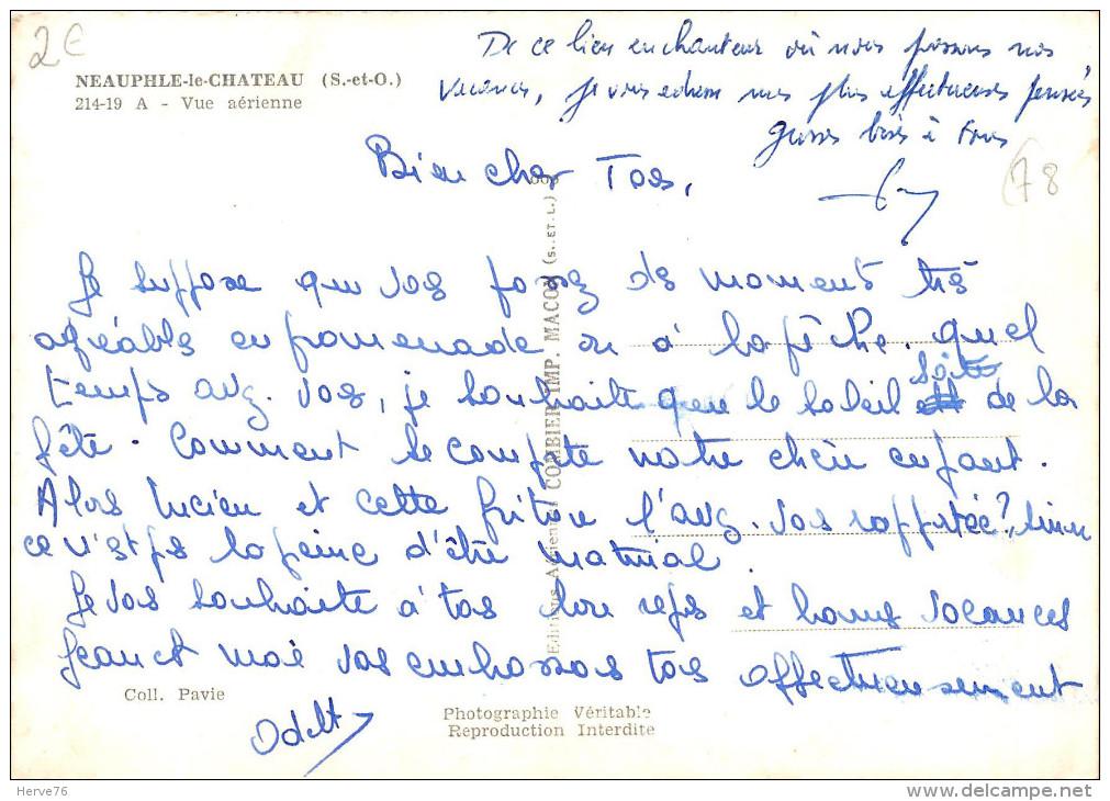 NEAUPHLE LE CHATEAU - Vue Aérienne - CPSM Grand Format - Neauphle Le Chateau
