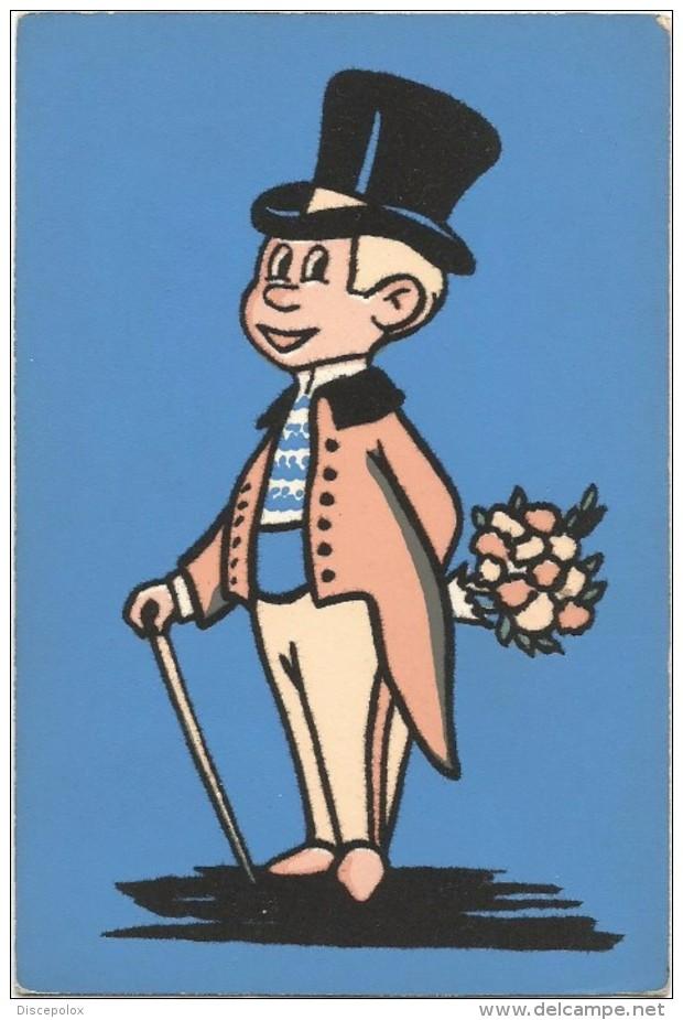 T42 Cartolina In Materiale Speciale - Disegno In Fibra Di Tessuto - Lord Inglese / Non Viaggiata - Cartoline