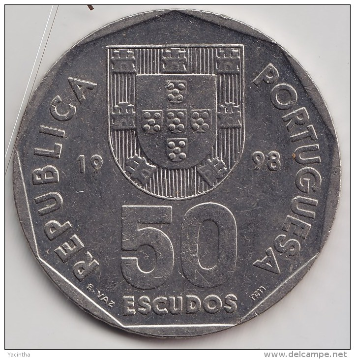 @Y@    Portugal  50 Escudos   1998   (3403)  Sailingship - Portugal
