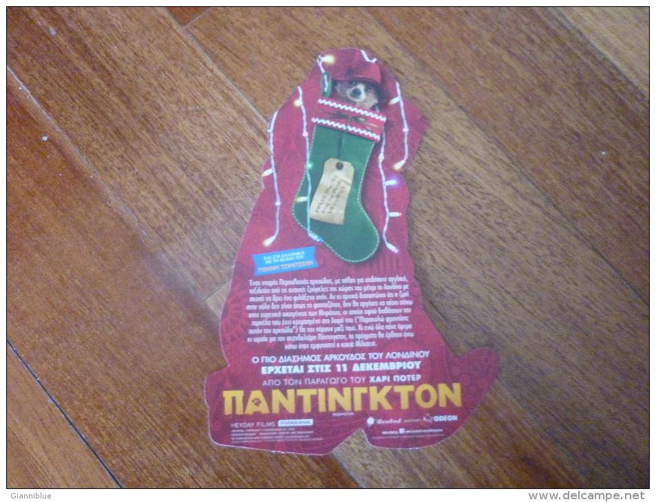 Paddington Bear Cinema Movie Lobby Card From Greece - Programmes