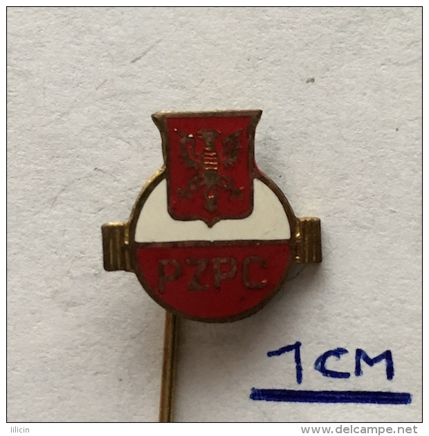 Badge (Pin) ZN003609 - Weighlifting Poland Federation (PZPC) - Weightlifting