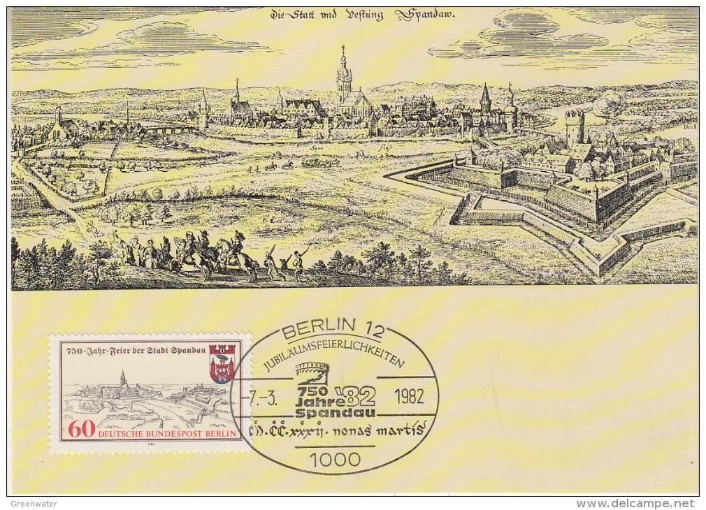 Berlin 1982 750Y Stadt Spandau  1v Maxicard (33178) - [5] Berlijn