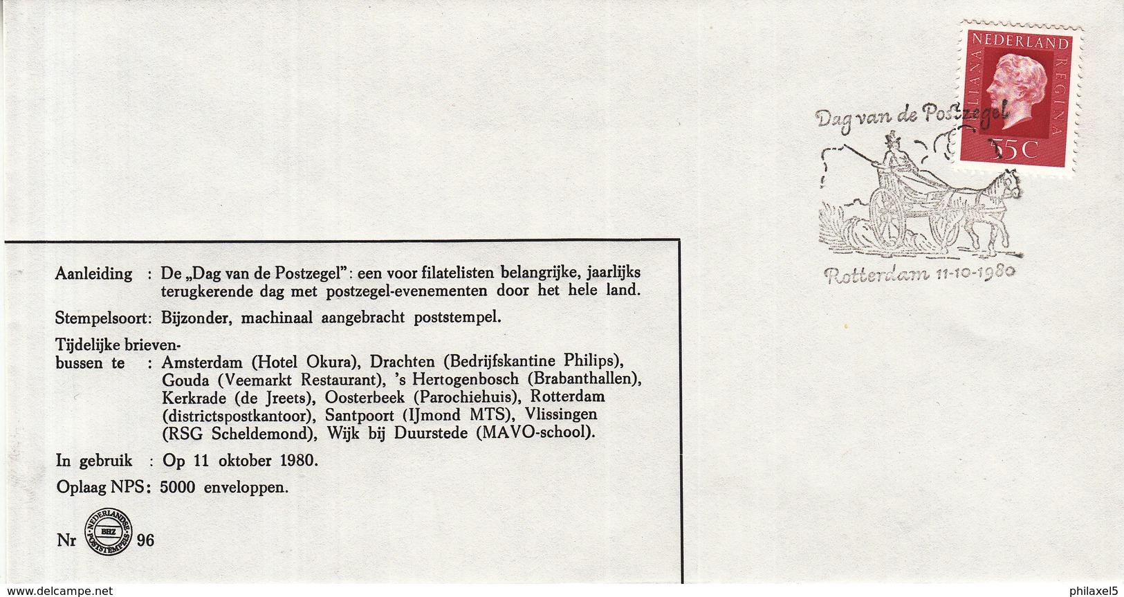Nederland - 11 Oktober 1980 - Dag Van De Postzegel - Rotterdam - Z 96 - Marcofilie - EMA (Print Machine)