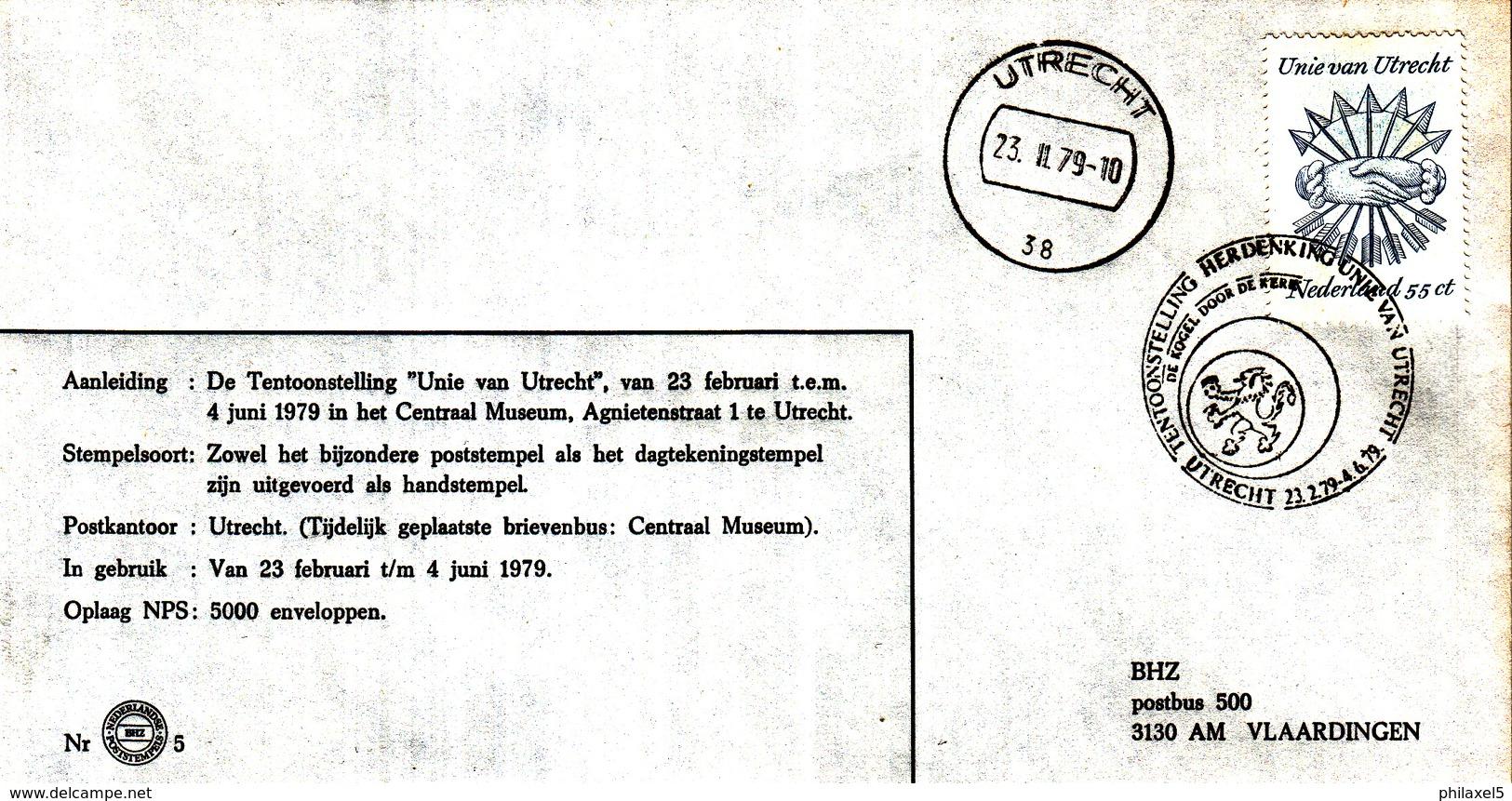 Nederland - 23 Februari/4 Juni 1979 - Tentoonstelling Herdenking Unie Van Utrecht - Utrecht  - BHZ Nr. 5 - Marcofilie - EMA (Print Machine)