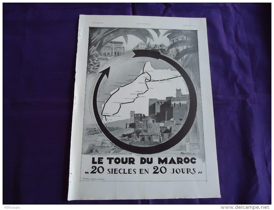 Pub De 1934 - TOURISME - LE TOUR DU MAROC - - Pubblicitari