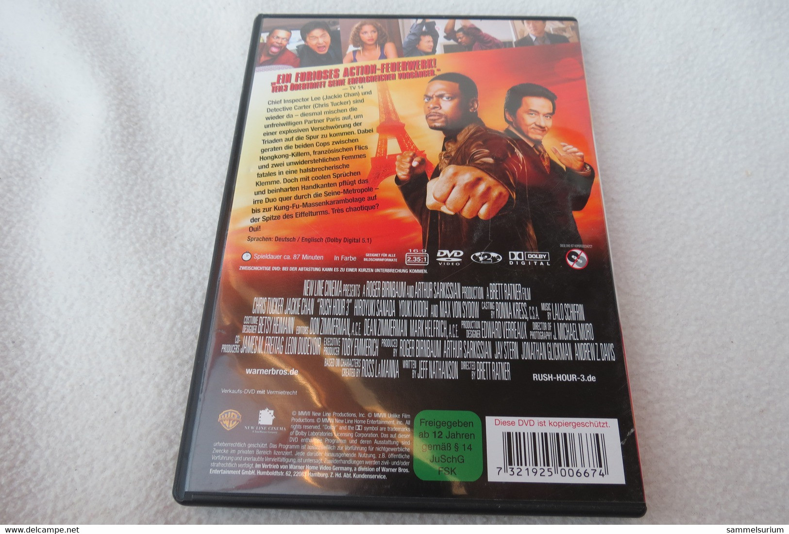 """DVD """"Rush Hour 3"""" Actionfilm Mit Chris Tucker, Jackie Chan - Musik-DVD's"""