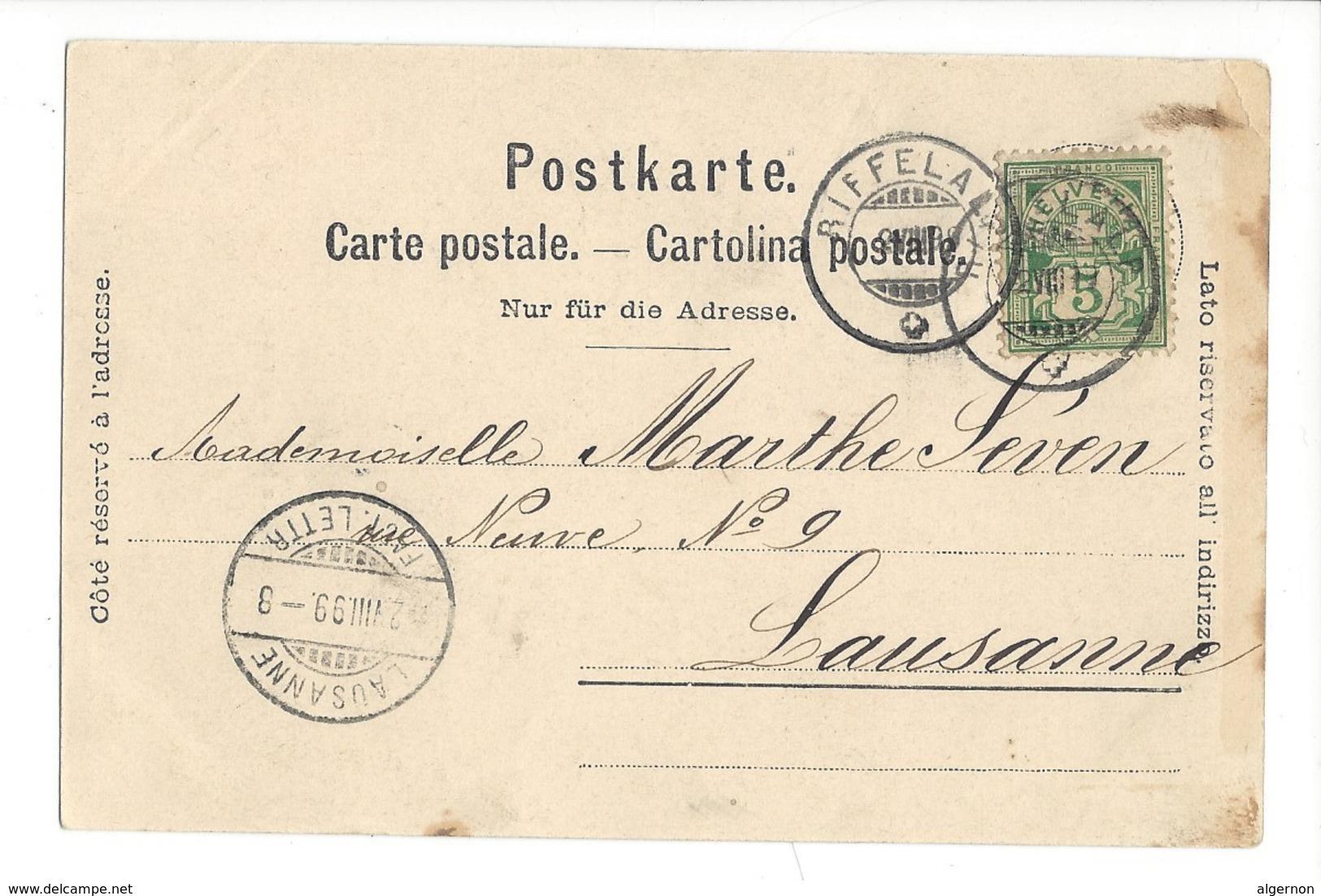 15792 -  Chemin De Fer Du Gornergrat Envoyée En 1899 - VS Valais