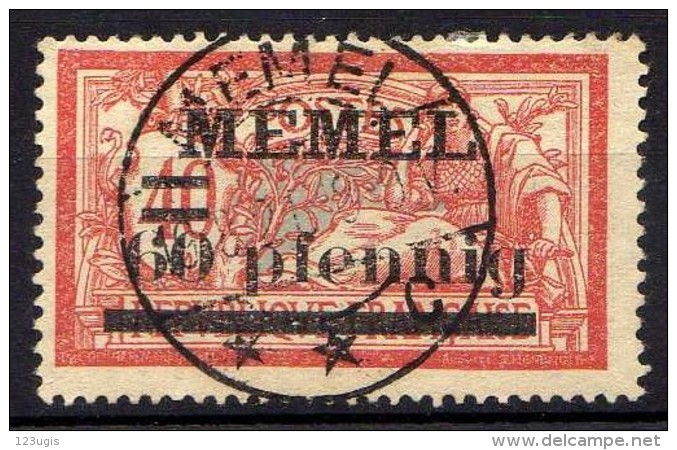 Memel 1920 Mi 24, Gestempelt [301016XIII] - Memelgebiet