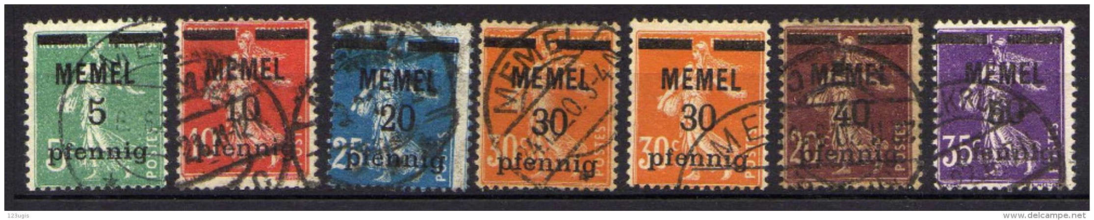 Memel 1920 Mi 18-23, Gestempelt (Mi 21 X + Y) [301016XIII] - Memelgebiet