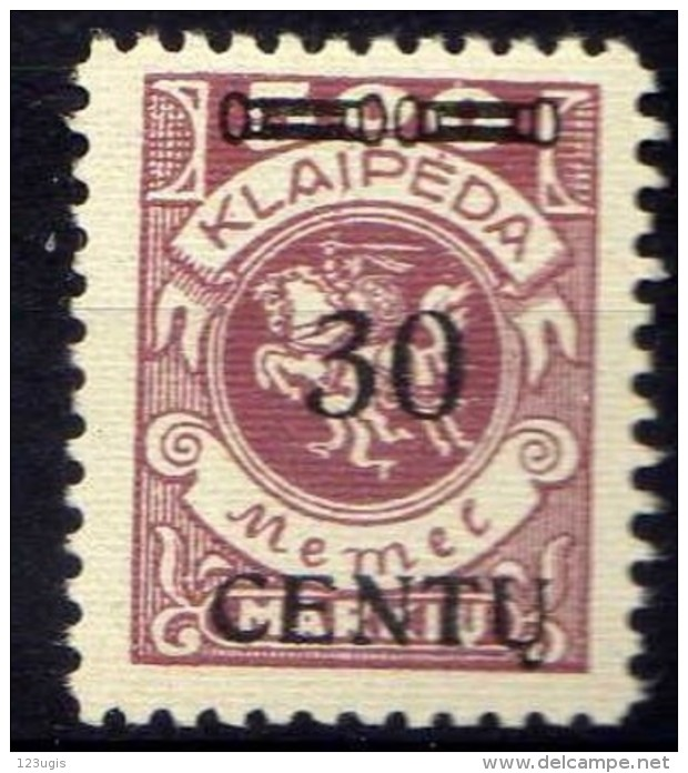 Memel (Klaipeda) 1923 Mi 172 * [301016XIII] - Memelgebiet
