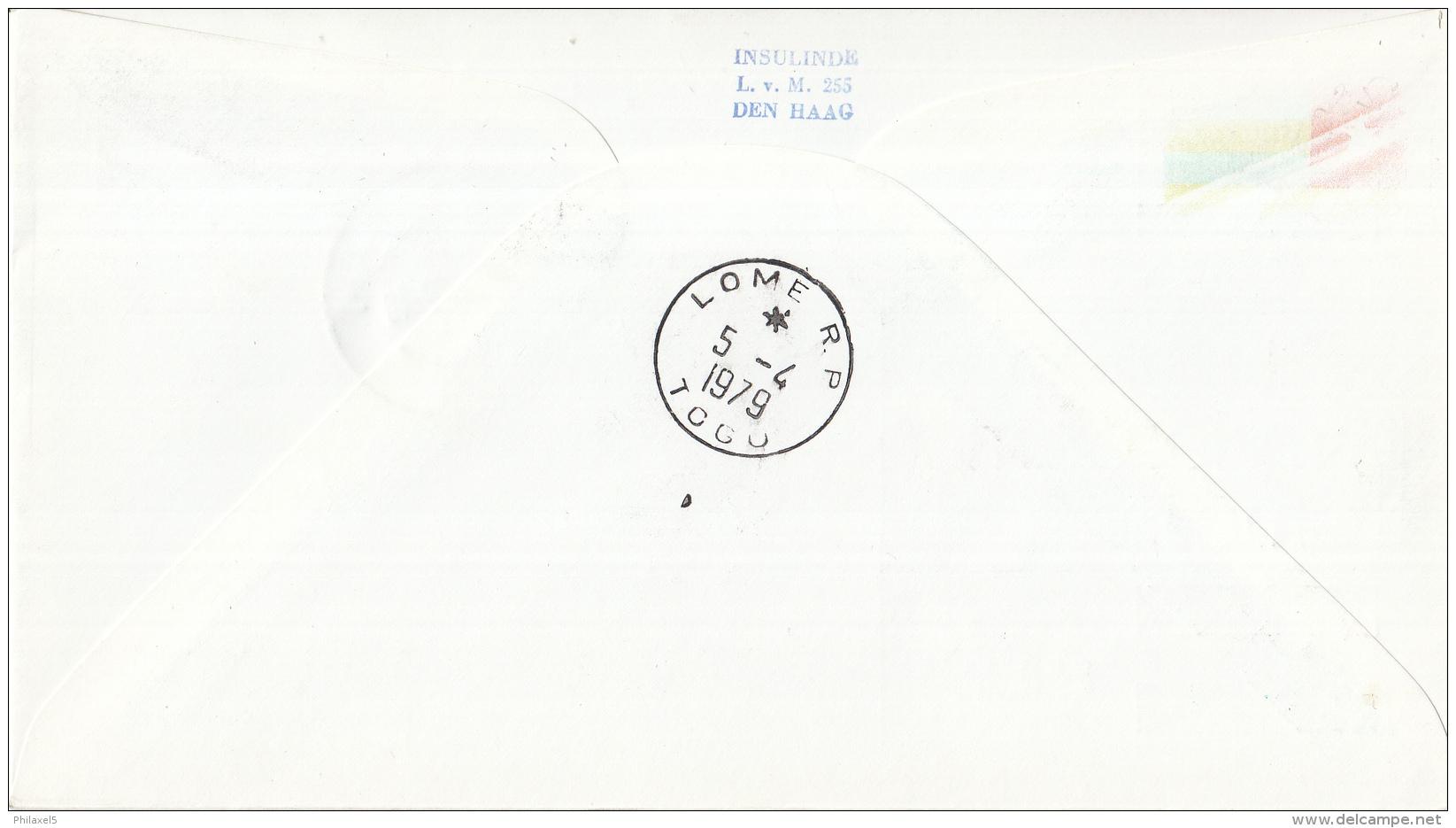 Nederland - 1ste Vlucht - 4 April 1979 - Amsterdam-Lomé - Vl. Hol. 978a - Marcofilie - EMA (Print Machine)