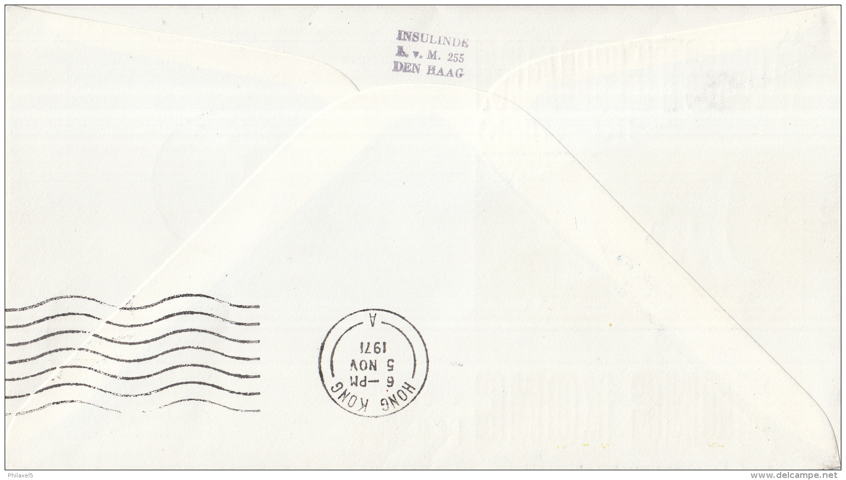 Nederland - 1ste Vlucht - 4 November 1971 - Amsterdam-Hong Kong - Vl. Hol. 850a - Marcofilie - EMA (Print Machine)