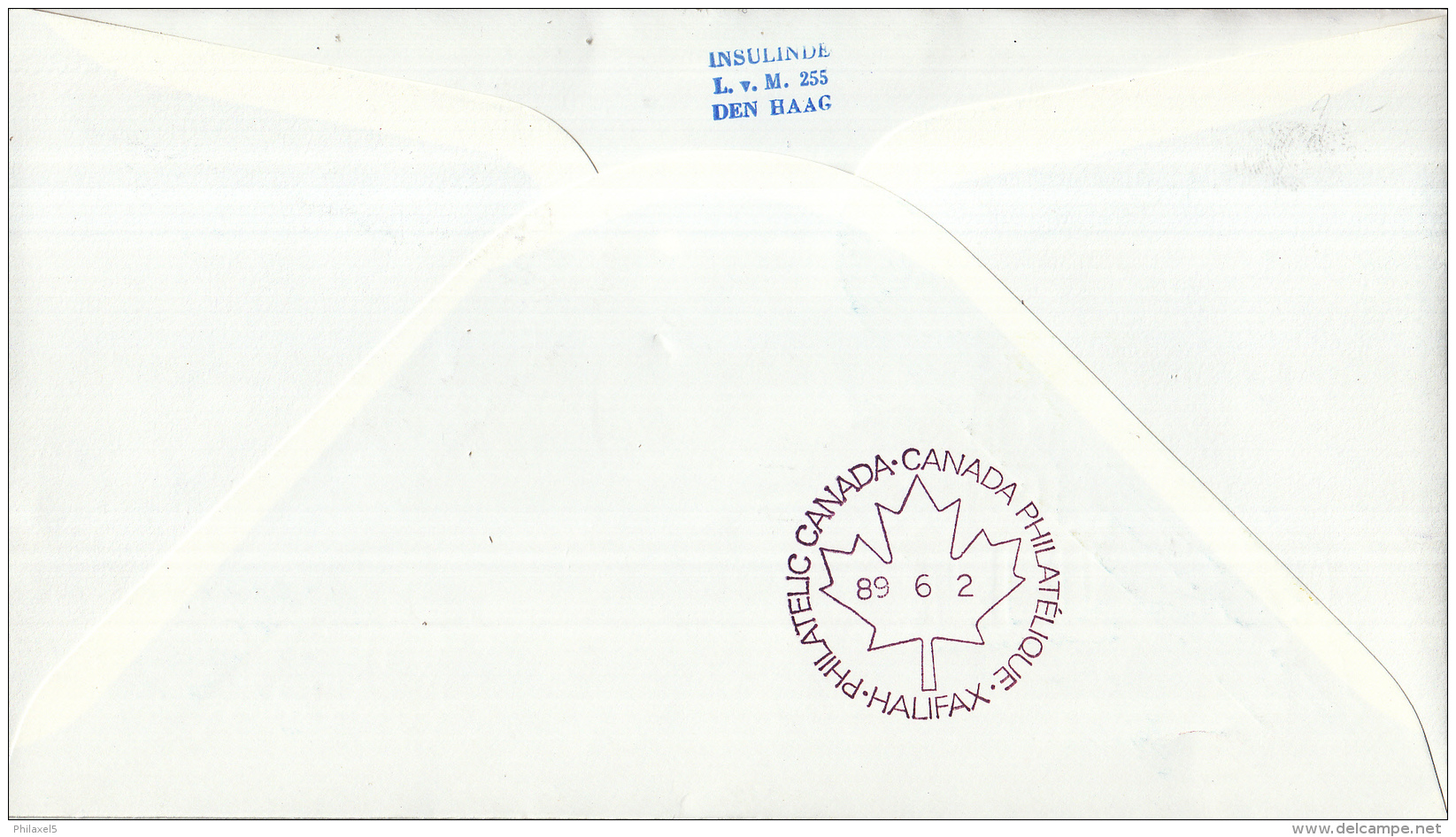 Nederland - 1ste Vlucht - 2 Juni 1989 - Amsterdam-Halifax - Vl. Hol. 1107a - Marcofilie - EMA (Print Machine)