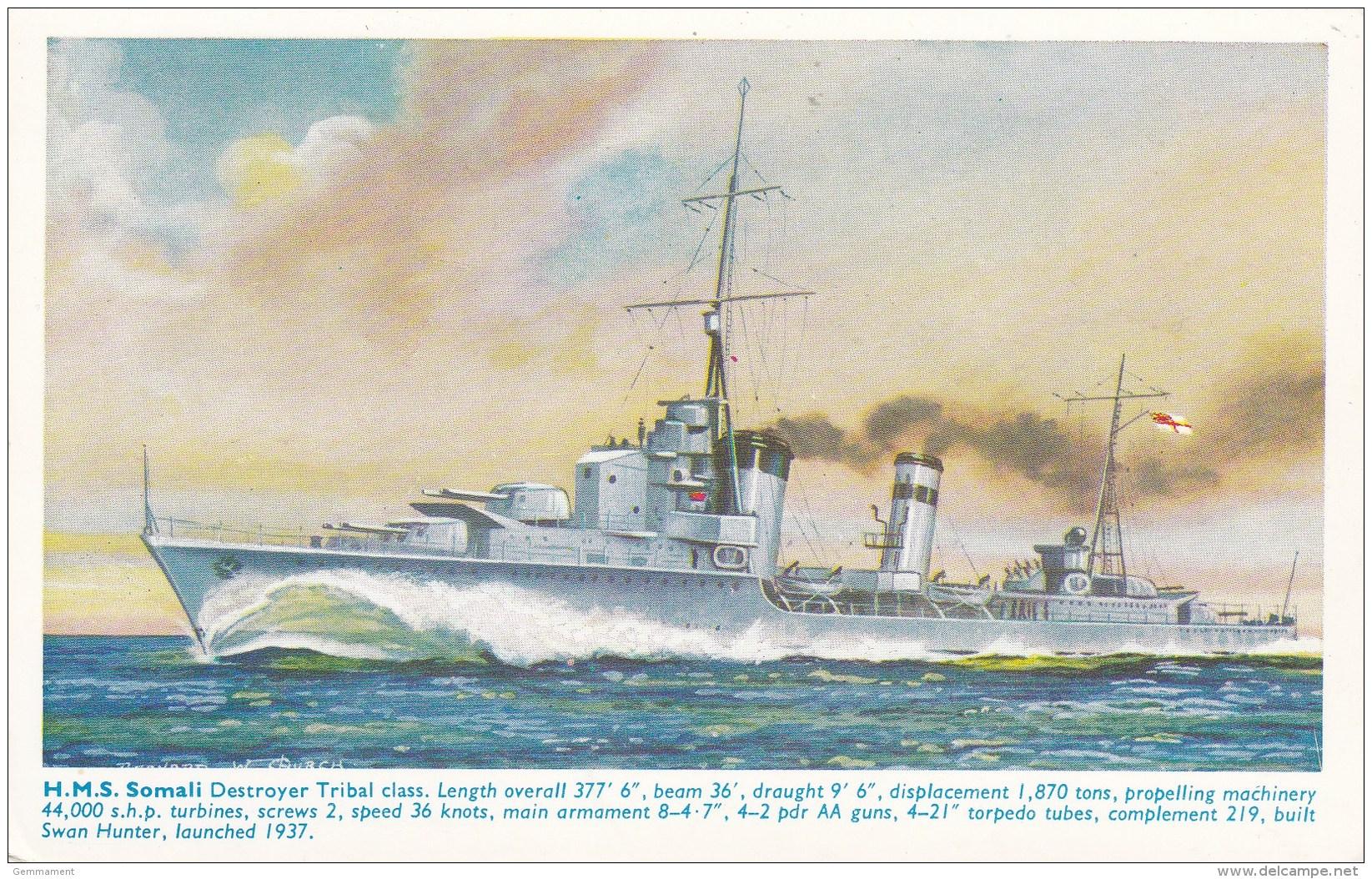 HM.S. SOMALI - Guerra