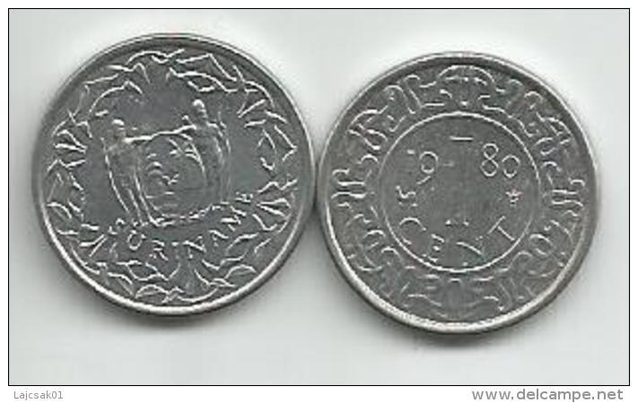 Surinam 1 Cent 1980. - Surinam 1975 - ...