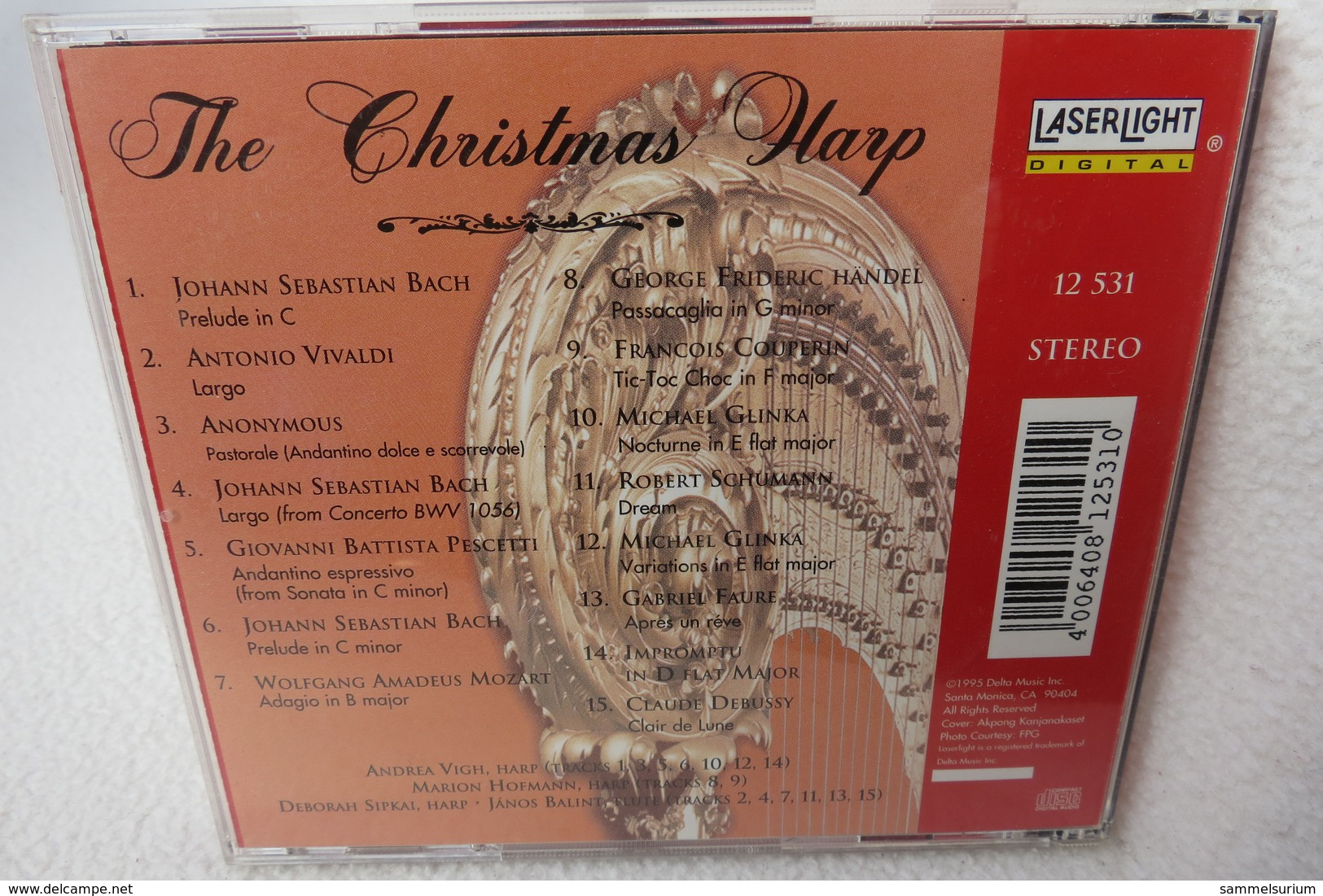"""CD """"The Christmas Harp"""" Classical Christmas Favorites - Weihnachtslieder"""