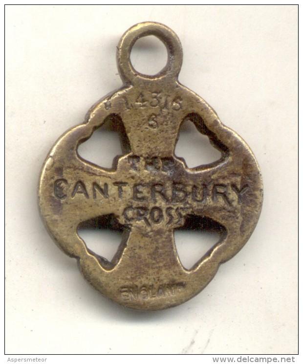 THE CANTERBURY CROSS NUMERATED MEDAL ENGLAND 1900s TBE RARE - Professionnels/De Société