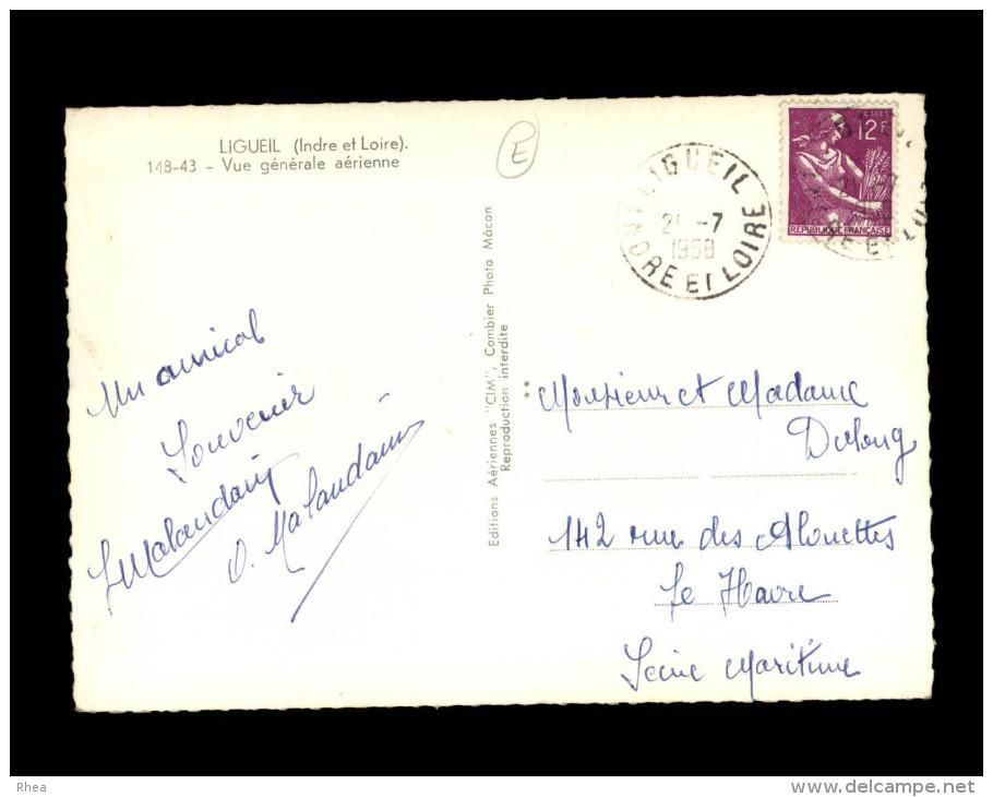37 - LIGUEIL - Vue Aérienne - - France
