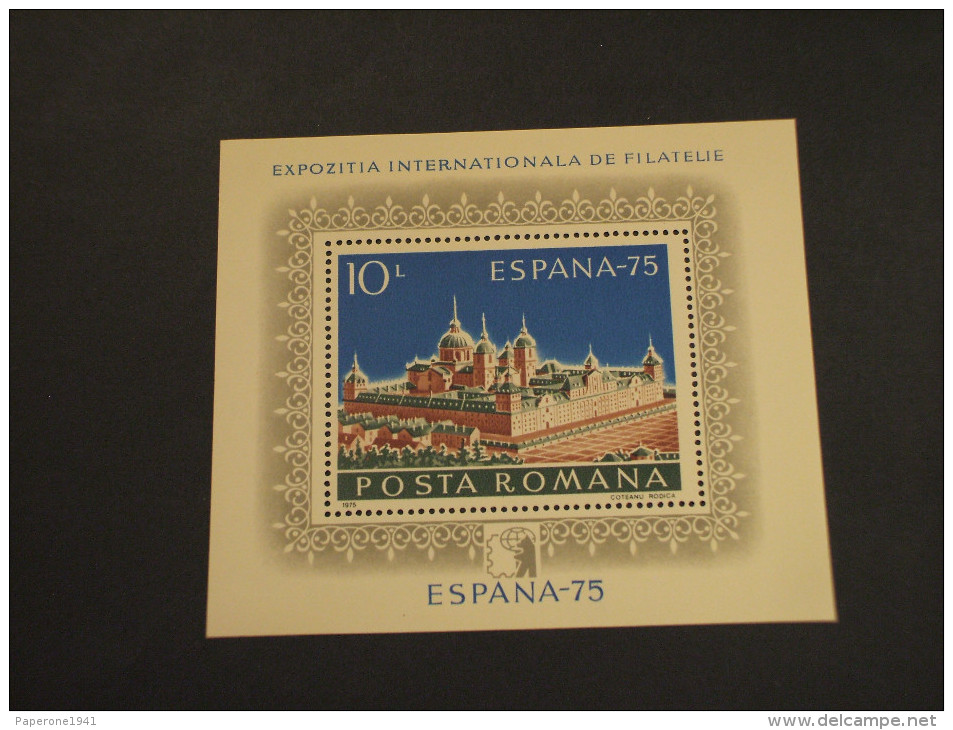 ROMANIA - BF 1975 ESPANA75 - NUOVO(++) - Blocs-feuillets