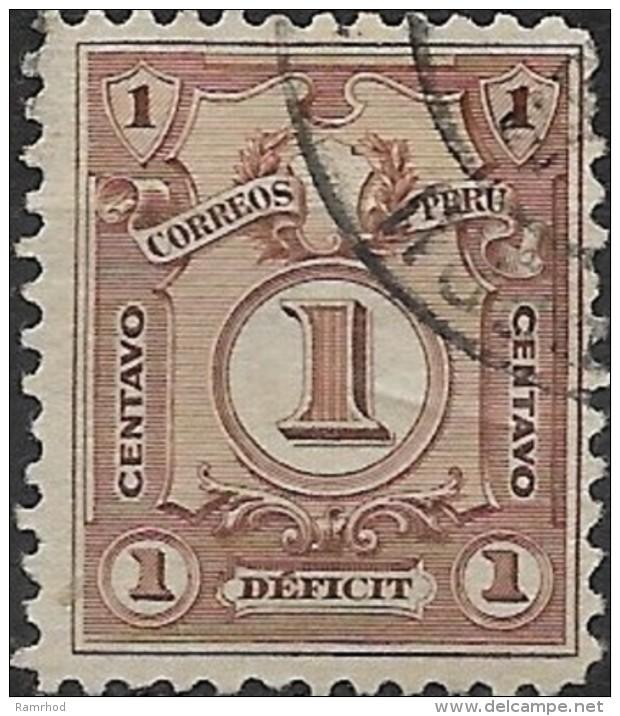 PERU 1909 Postage Due -  1c. - Brown  FU - Peru