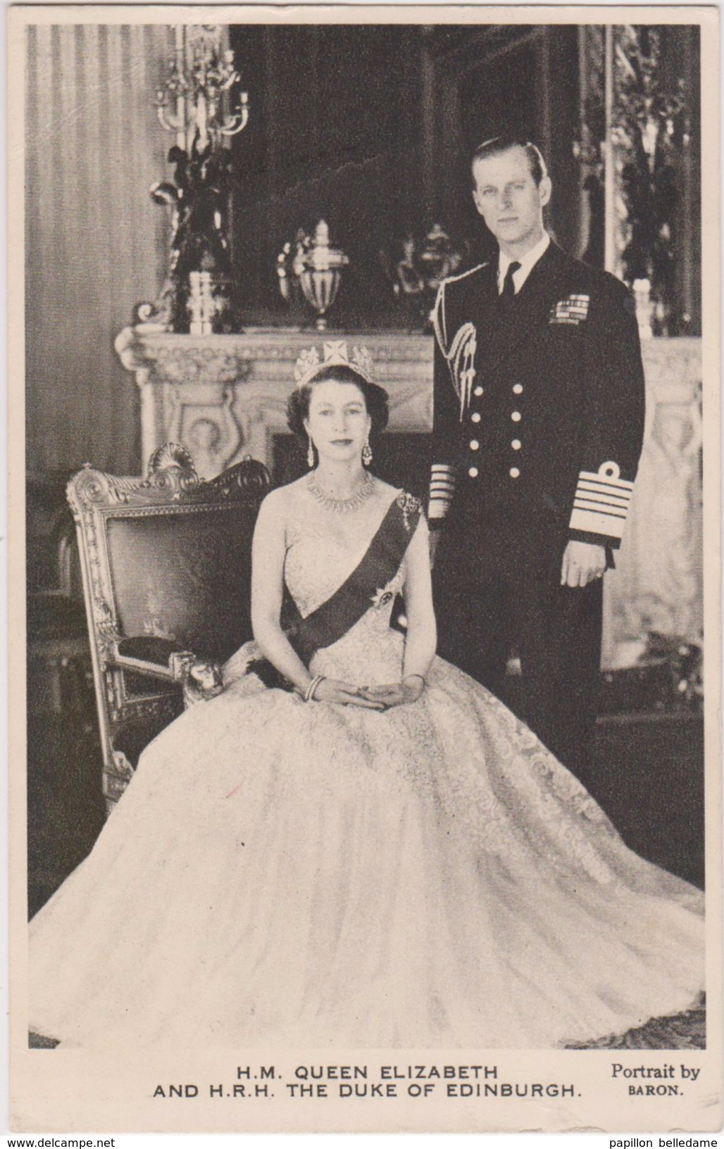 H.M.QUEEN ELIZABETH AND H.R.H. THE DUKE EDINBURGH... - Familles Royales