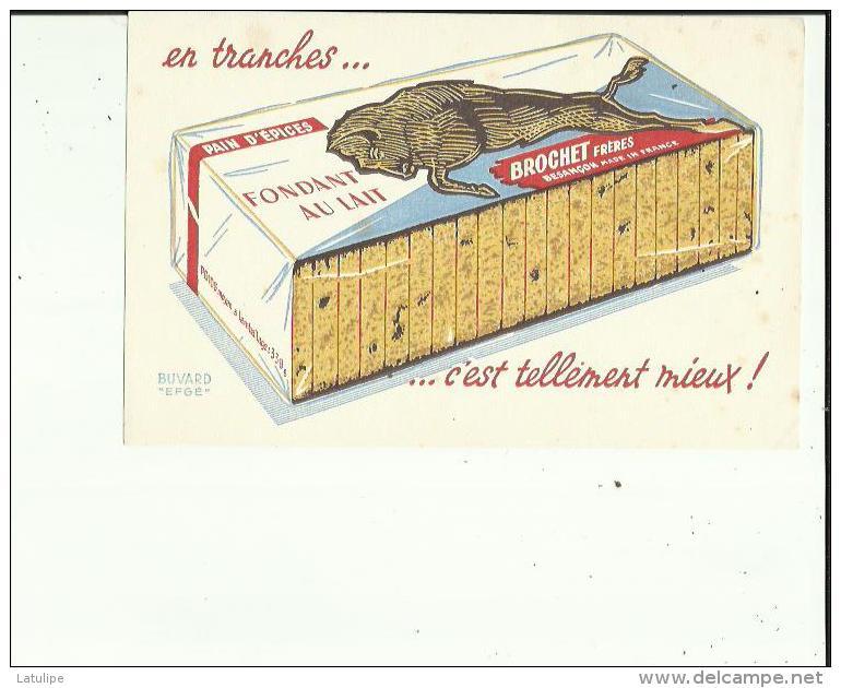 Buvard G F_21x13 - De Maison BROCHET Frères (Pain D'Epices) A Besançon  25  Voir Scan - Gingerbread